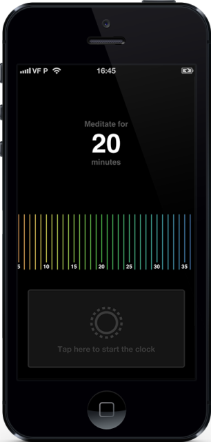 A Screen shot of Mind a minimal iphone meditation timer app for iphone