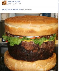 Man Vs Food Burger