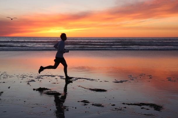 #BP Sunset runner 3 SanDiegoShooter, mindful fitness